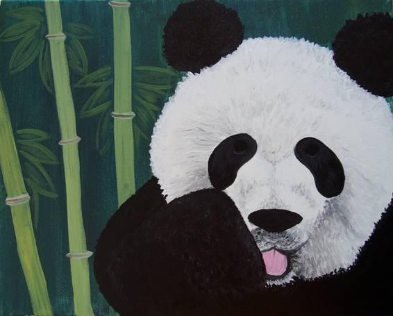 A Mama Bear paint nite project by Yaymaker
