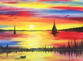 A Sunrise Sail paint nite project by Yaymaker