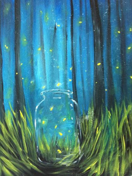 A My Fire Flies paint nite project by Yaymaker