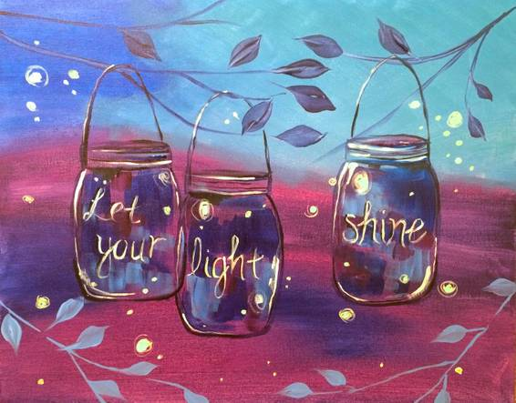 A Let Your Light Shine paint nite project by Yaymaker