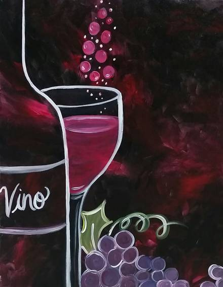 A Bubbly paint nite project by Yaymaker