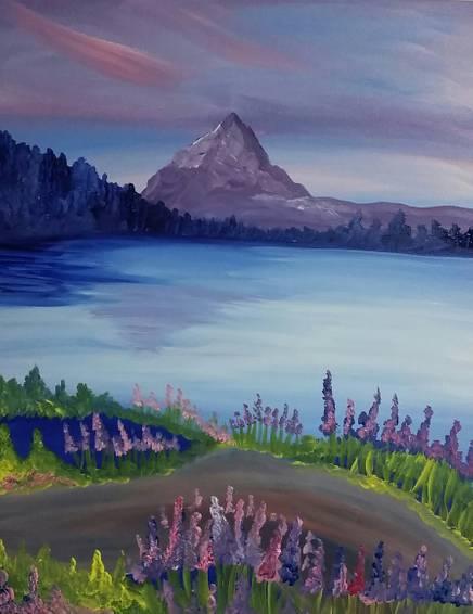 A Purple Mountains Majesty paint nite project by Yaymaker
