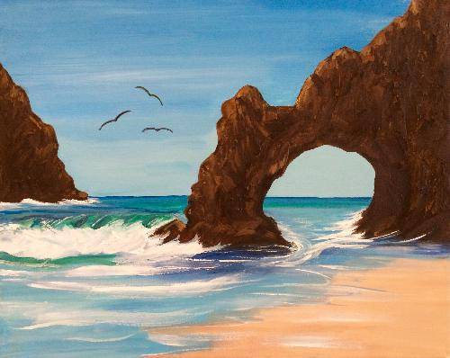 A A Getaway paint nite project by Yaymaker