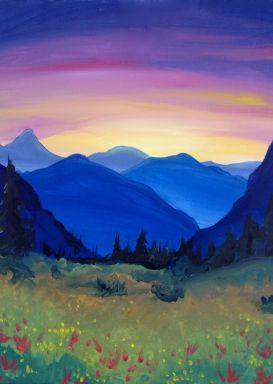 A Hidden Meadow paint nite project by Yaymaker