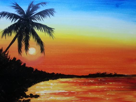 A Beach Therapy paint nite project by Yaymaker