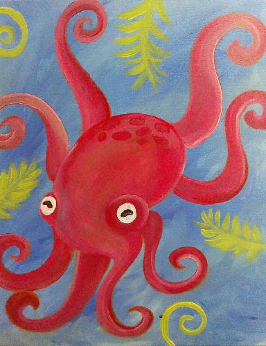 A Mr Octopus paint nite project by Yaymaker