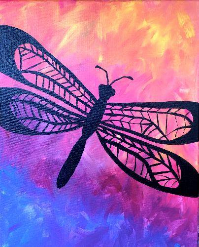 A Dragonfly Wonder paint nite project by Yaymaker