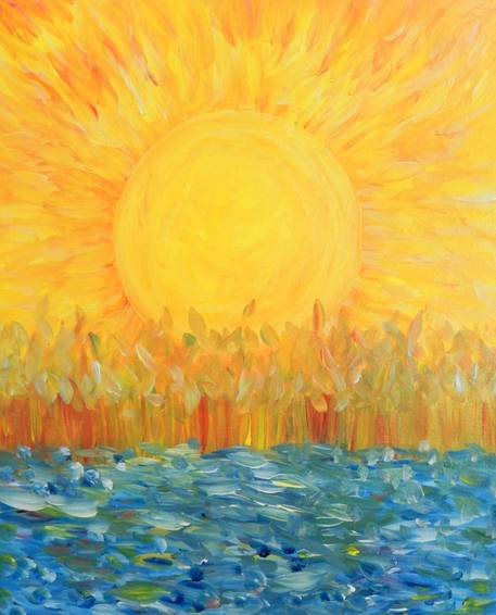 A Sunshine for Van Gogh paint nite project by Yaymaker