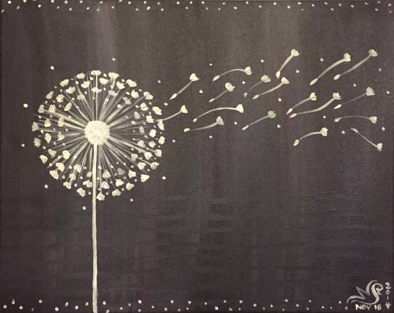 A Dandelion Breeze paint nite project by Yaymaker