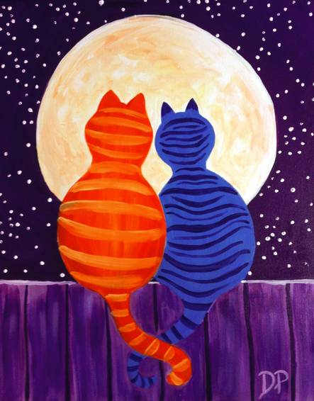 A Moonrise Date Night paint nite project by Yaymaker