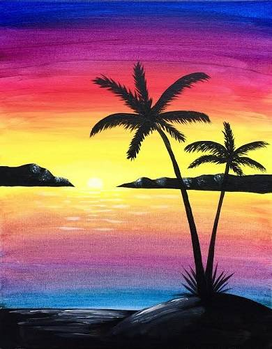 A Paradise Island paint nite project by Yaymaker