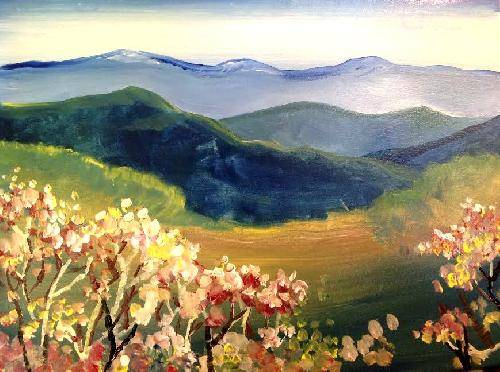 A Flowering Vista paint nite project by Yaymaker