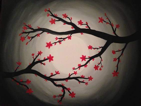 A Red Bloom paint nite project by Yaymaker