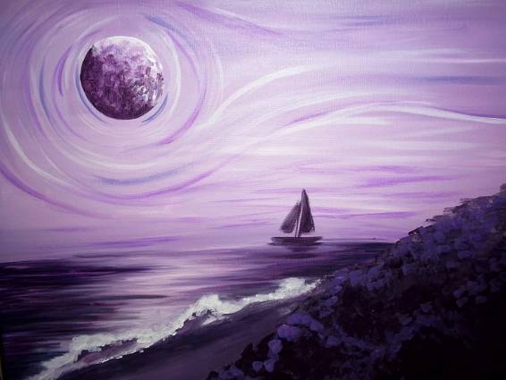 A Amethyst Island paint nite project by Yaymaker