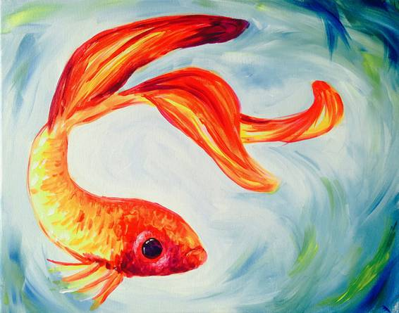 A Swishy Fish paint nite project by Yaymaker