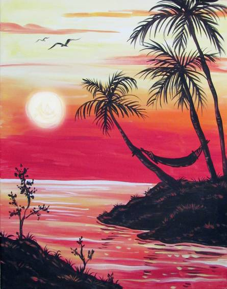 A Afternoon Delight paint nite project by Yaymaker