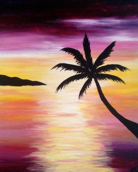 A Pink Bliss paint nite project by Yaymaker