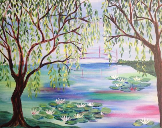 A Lilly Pond paint nite project by Yaymaker