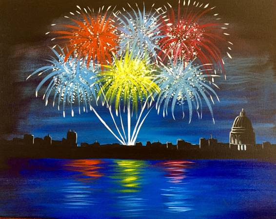 A Madtown Fireworks paint nite project by Yaymaker