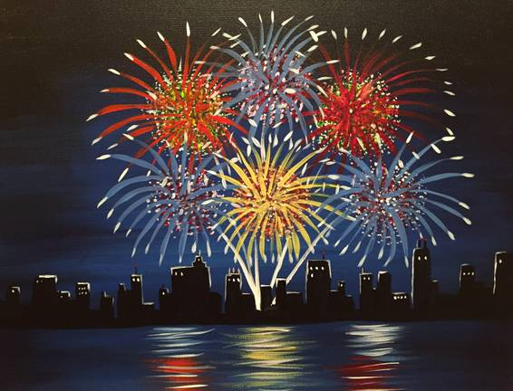 A 4th of July paint nite project by Yaymaker