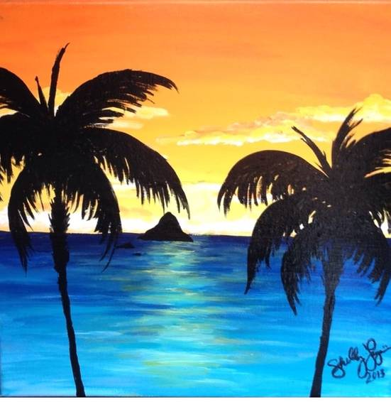 A At Sun Set paint nite project by Yaymaker