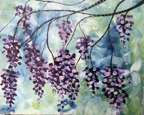 A Dripping Wisteria paint nite project by Yaymaker