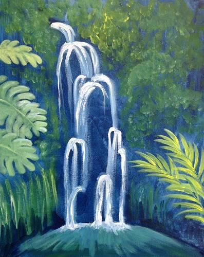 A Maui Waterfall paint nite project by Yaymaker