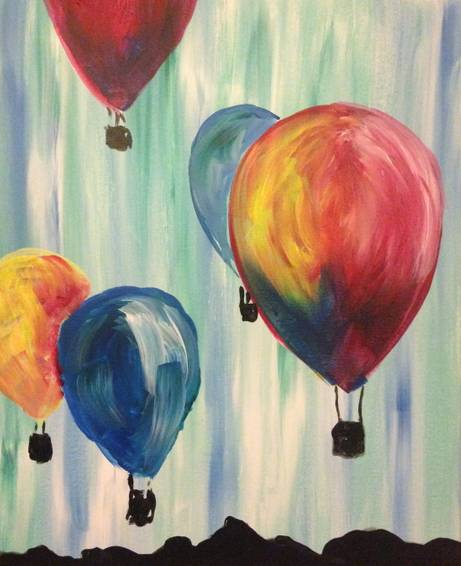 A Up Up  Away paint nite project by Yaymaker
