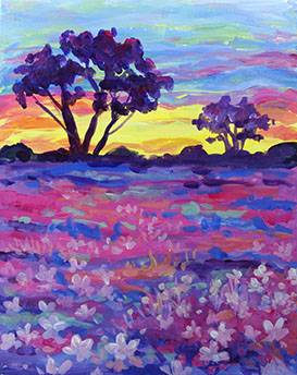 A Spring Morning paint nite project by Yaymaker
