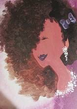A Rock Your Curls paint nite project by Yaymaker