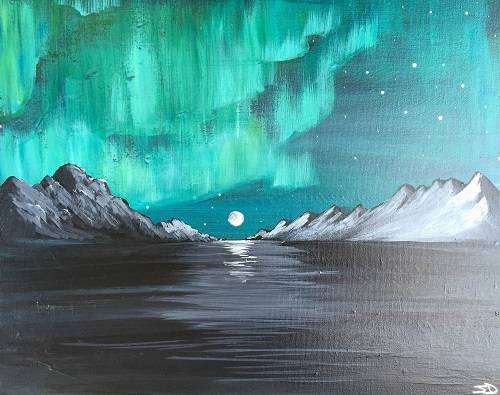 A Aurora Display paint nite project by Yaymaker