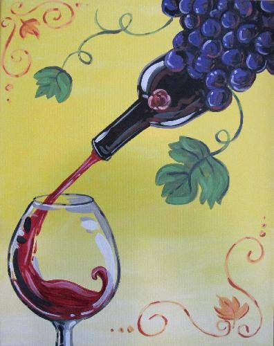A From Fruit to the Glass paint nite project by Yaymaker