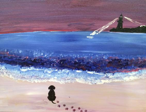 A A Dogs Beach paint nite project by Yaymaker