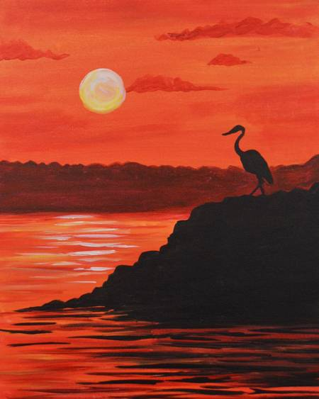 A Heron After paint nite project by Yaymaker