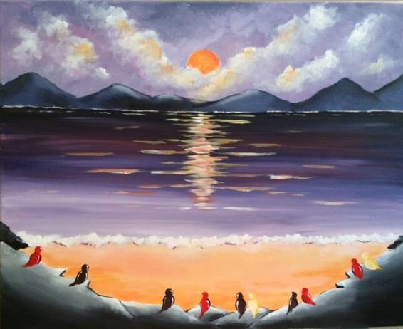 A Parrot Cove paint nite project by Yaymaker