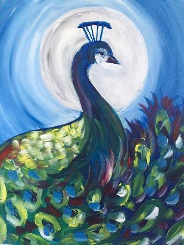 A Peacock Sonata paint nite project by Yaymaker