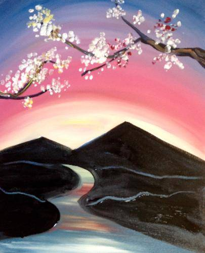 A Nile Sunrise paint nite project by Yaymaker