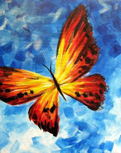 A Butterfly 3 paint nite project by Yaymaker