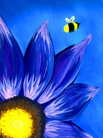 A Free as a Bee paint nite project by Yaymaker