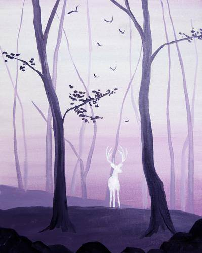 A Spirit of the Forest paint nite project by Yaymaker