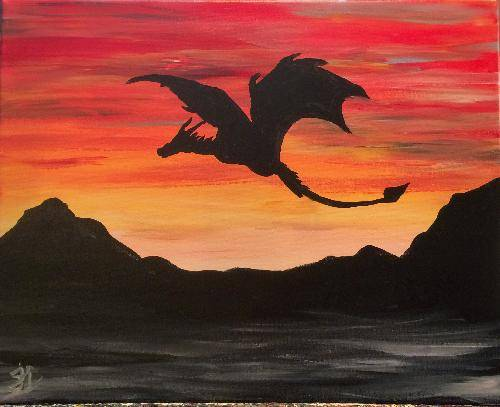 A Mother of Dragons paint nite project by Yaymaker