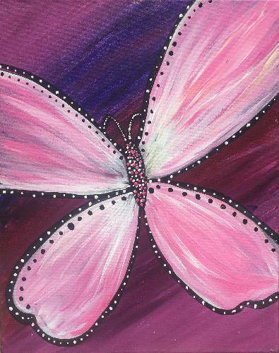 A Butterfly Dreams 2 paint nite project by Yaymaker