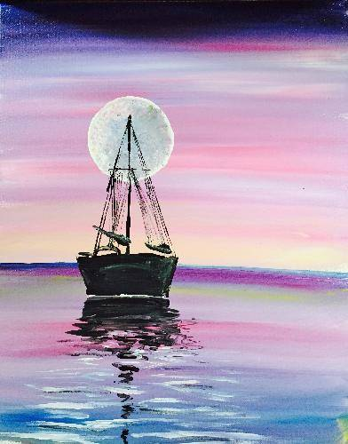 A Moon River 2 paint nite project by Yaymaker