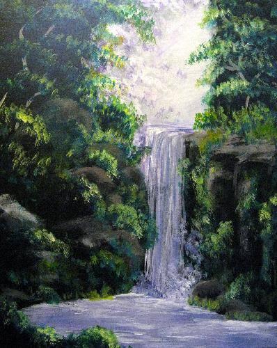 A Purple Waterfall paint nite project by Yaymaker