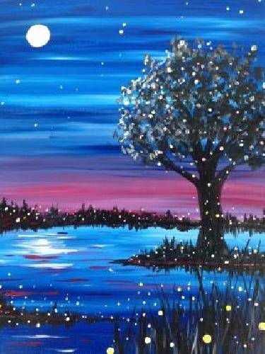 A Flight of the Fireflies paint nite project by Yaymaker