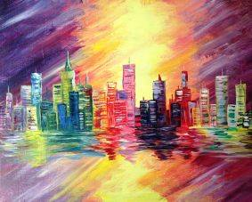 A Hot in the City paint nite project by Yaymaker