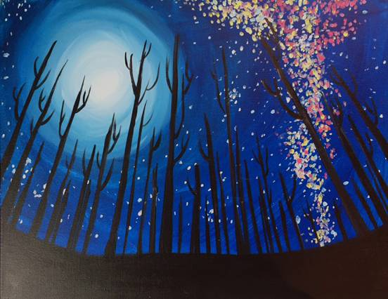 A Milky Way Magic paint nite project by Yaymaker