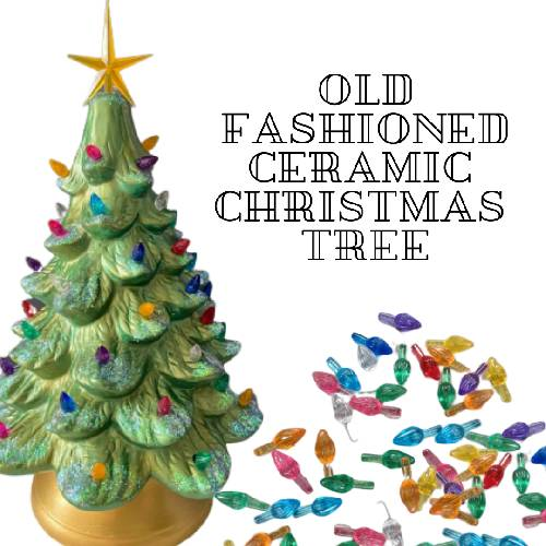 A Old Fashioned Ceramic Christmas Tree Lights Included experience project by Yaymaker