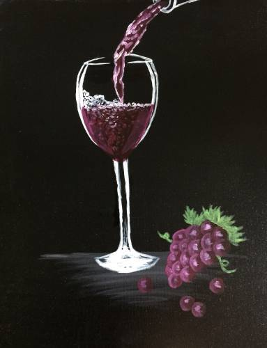 A Wine So Fine paint nite project by Yaymaker
