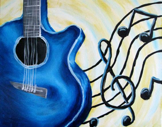 A Love of Music paint nite project by Yaymaker